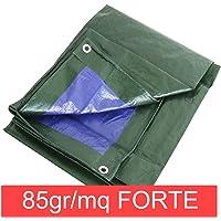 STI Telo OCCHIELLATO 85 gr Verde Blu Impermeabile COPRITUTTO Multiuso Varie Misure