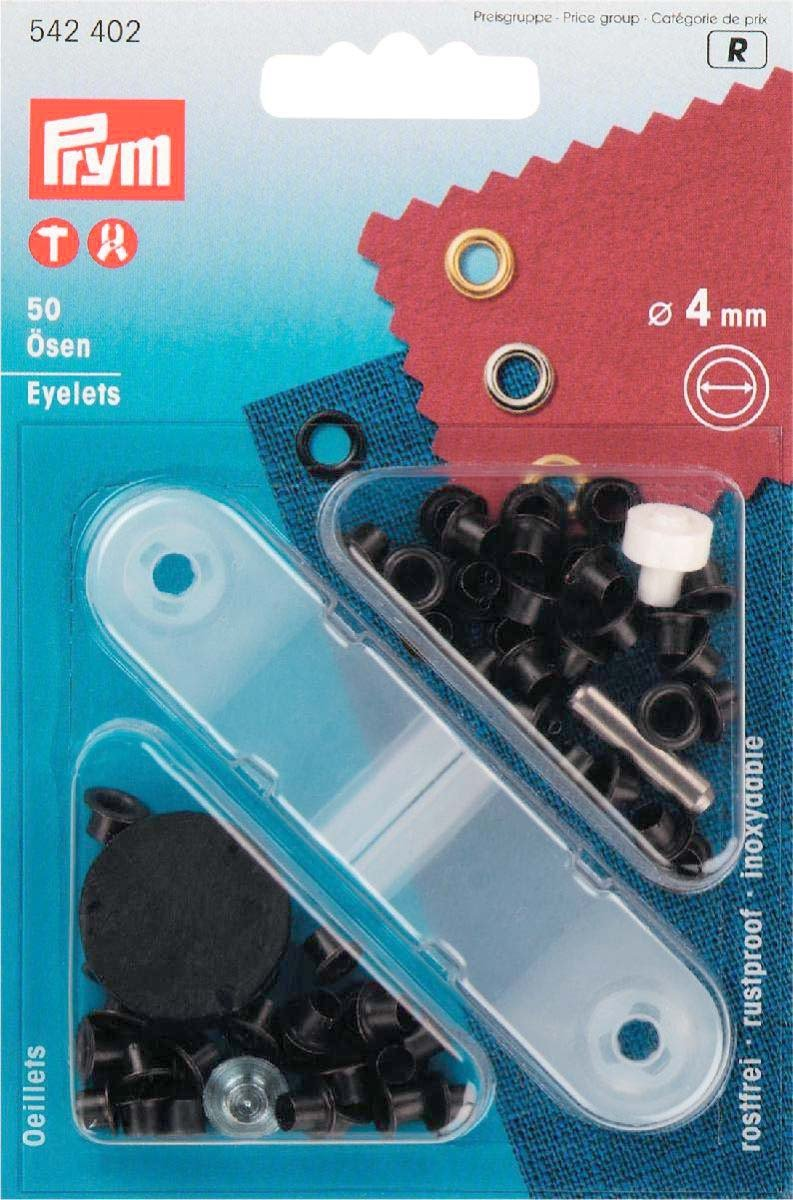 Prym Eyelets - 50 pieces 4mm black oxidized by Prym