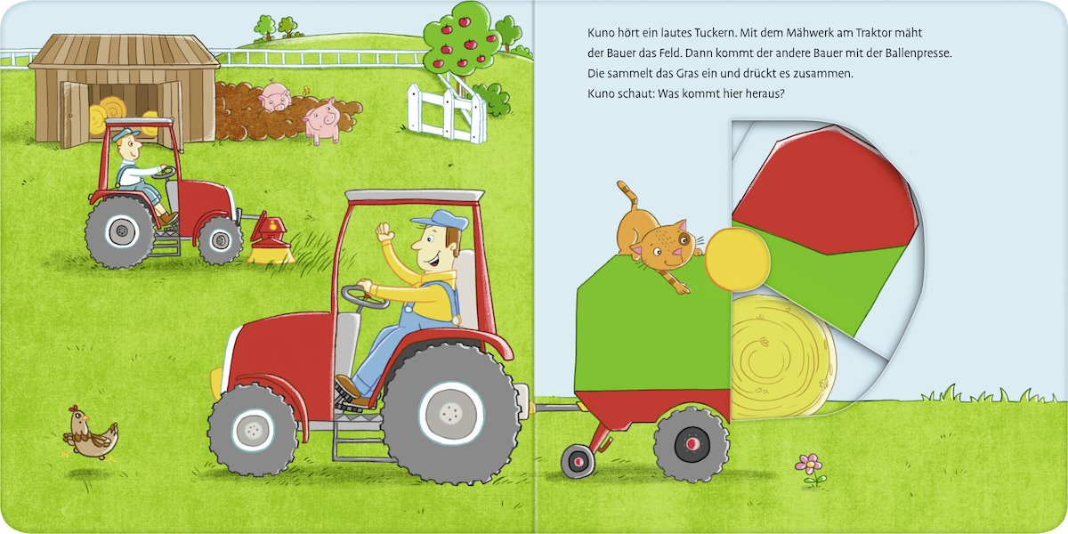 Niedlich Bauernhof Ballenpresse Kunst Zeitgenössisch - Elektrische ...
