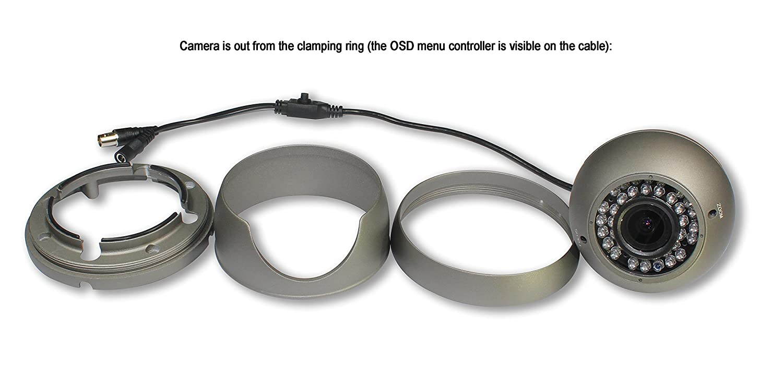 Cámara CCTV híbrida SKYVIEW HD 1080P, 2MP TVI / CVI / AHD / CVBS 4 en 1, lente varifocal de 2.8-12 mm, 36 IR LED, visión nocturna día IR Cut, ...