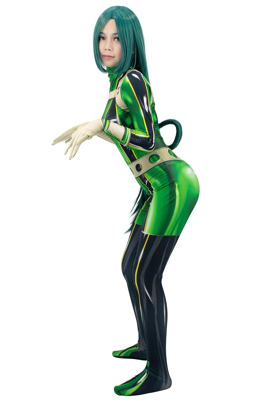 C-ZOFEK My Hero Academia Asui Tsuyu Bodysuit Froppy Green Cosplay Costume Jumpsuit