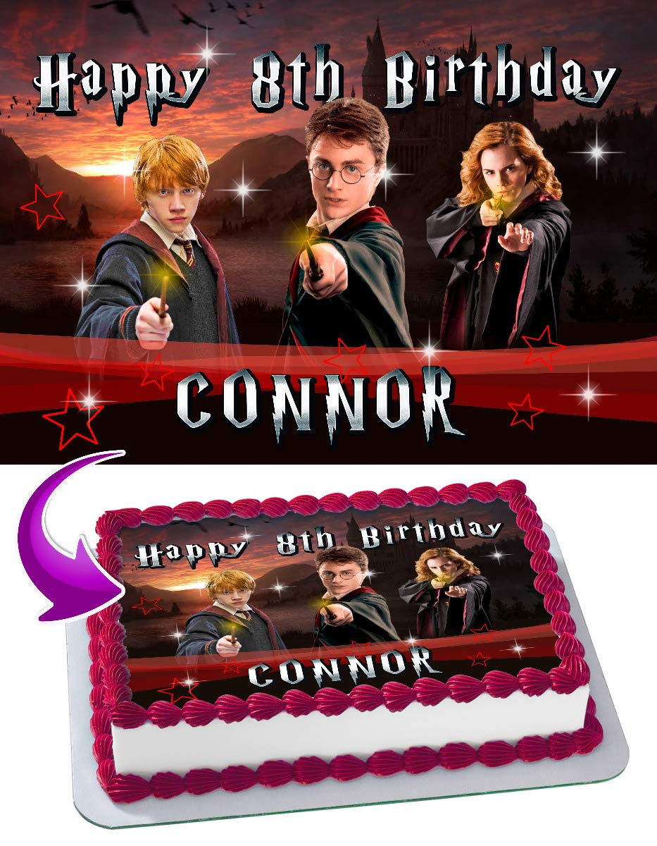 HARRY POTTER NUMBER AND LETTERS PERSONALISED EDIBLE ICING CAKE TOPPER