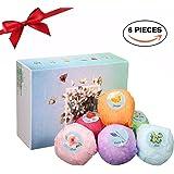 Bath Bomb Gift Set, LuckyFine 6 Pcs Natural Handmade Organic Bath Bomb Kit for Christmas Gift, Spa Bath Kit Gift Box for Moisturizing Dry Skin, Birthday Gift for Women, Girls, Wife, Girlfriend