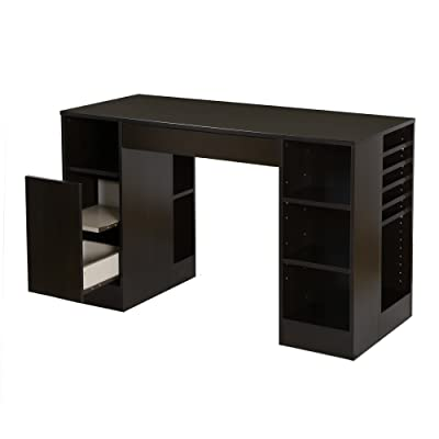 South Shore Craft Table with Open and Closed Storage