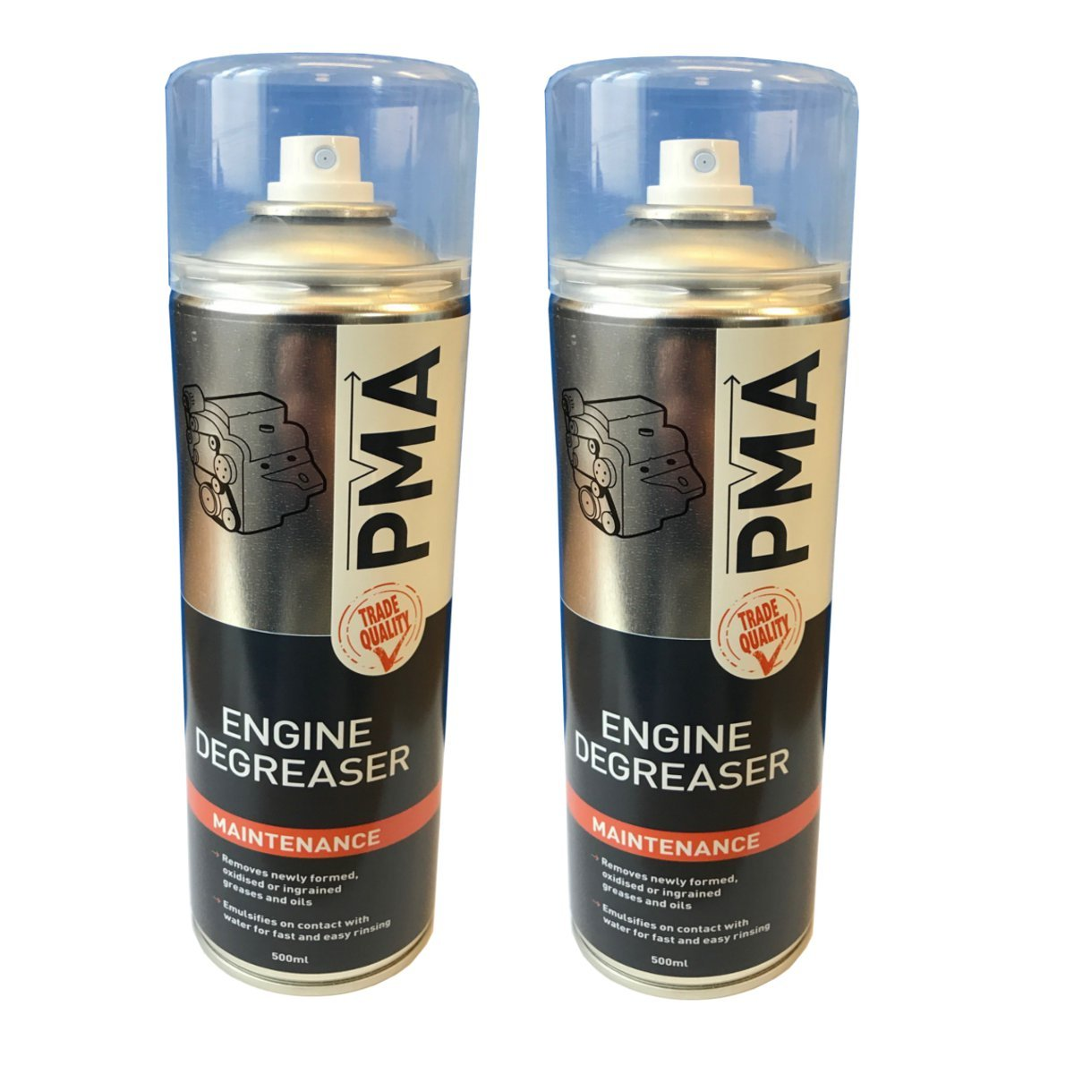 (PACK OF 2) PMA Trade Quality Engine Degreaser 500ml Aerosol