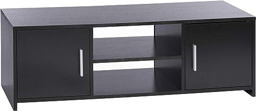 Ts Ideen Tv Bank Lowboard Sideboard Kommode Hifi Schrank Regal Holz Holz 2 Turen Schwarz 110 X 36 Cm Amazon De Kuche Haushalt