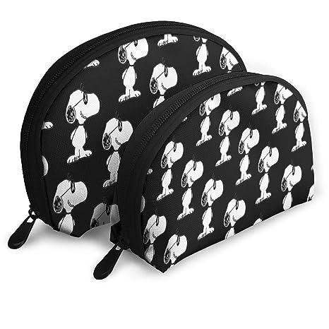 Amazon Com Sladdd1 Snoopy 3 Shell Shape Makeup Bag Set Travel