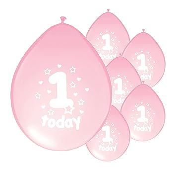Amazon.com: 8 x 1st cumpleaños de niña/edad 1 niña rosa ...