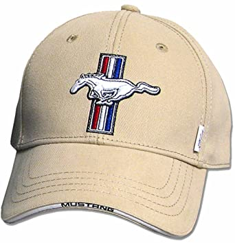 Ford Mustang Gt Fine Embroidered Hat Cap Beige