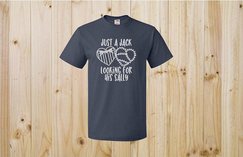 Disney Store 2x  Jack Skellington Sally Gray Shirt Nightmare Before Christmas