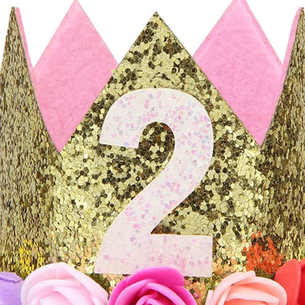 Sunlera Ragazza Ragazzo Festa di Compleanno del Bambino del Fiore la Protezione della Fascia 1//2 1 2 3 Anni Quanti Newborn Cappello di Compleanno