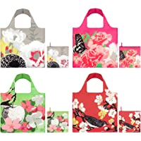 LOQI Prima Collection Pouch Reusable Bags, Multicolored, Set of 4