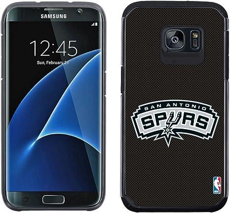 HOOT Logotipo de NBA San Antonio Spurs con Licencia – Equipo Color Textura Caso con Color sólido diseño para Samsung Galaxy S7 Edge: Amazon.es: Deportes y aire libre
