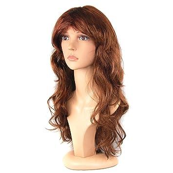 TRIXES Perruque femme à cheveux longs pour