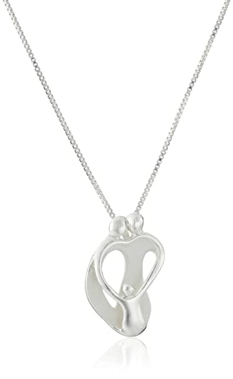 Amazon sterling silver loving family parents with one child sterling silver quotloving familyquot parents with one child pendant necklace aloadofball Image collections