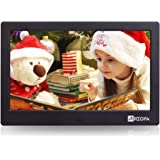 Arzopa 10-inch IPS Widescreen Digital Photo Frame HD 16:9 Support MP3 MP4 Video Player Calendar Random Playback Mode with Remote Control