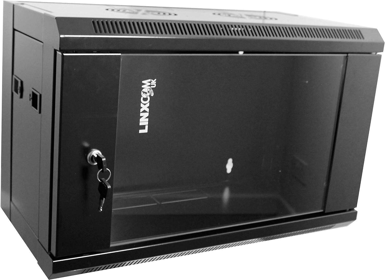 Color Negro Estante de Pared para Armario de Red Linxcom UK Modelo E