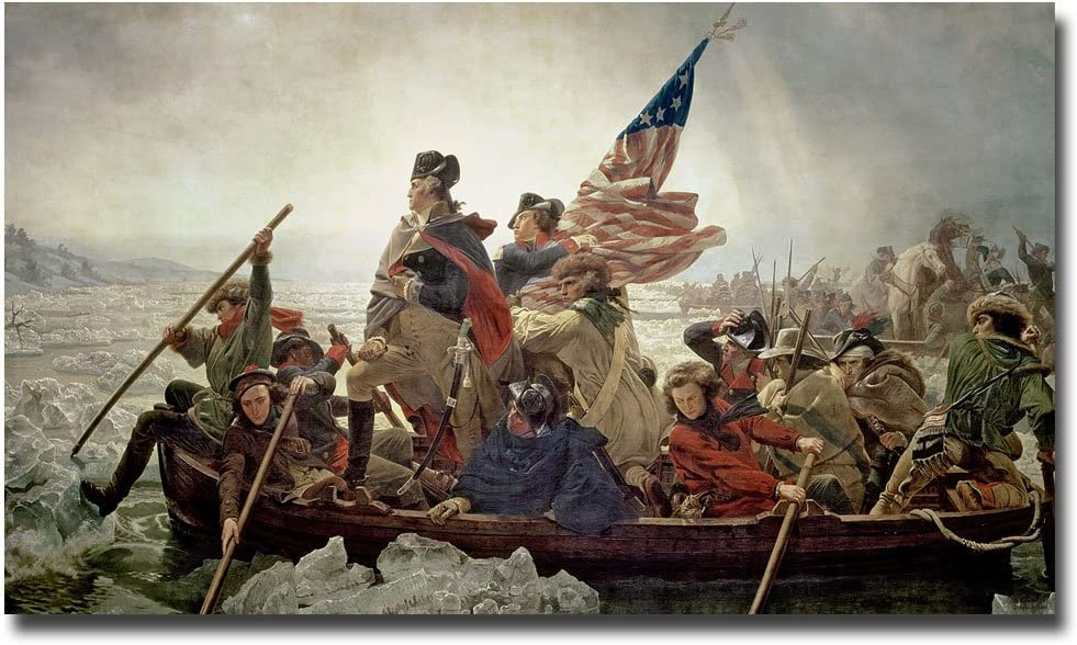 Amazon.com: Washington Crossing Delaware River in 1776 by Emanuel Leutze, 30x47-Inch Canvas Wall Art: Prints: Posters & Prints