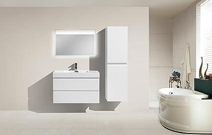 Amazon Com Tona Mof 40 Wall Mounted Modern Bathroom Vanity With