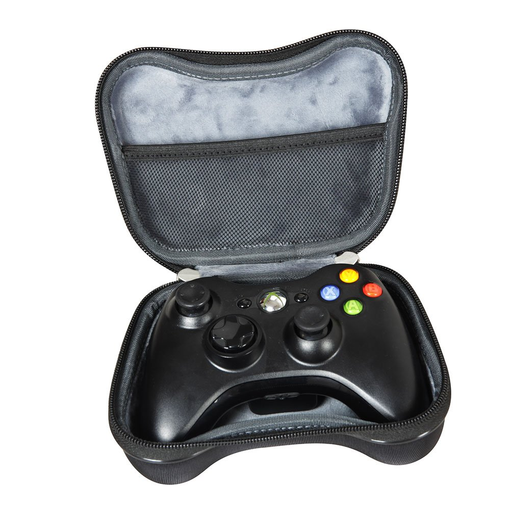 HDE Controller Carrying case for Xbox 360 Hard Storage Shell with Strap Pockets and Dividers for Microsoft Xbox 360 Gamepad