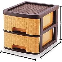 Sindhu Liza Multipurpose Plastic Drawer System Organizer Rack Home and Kitchen