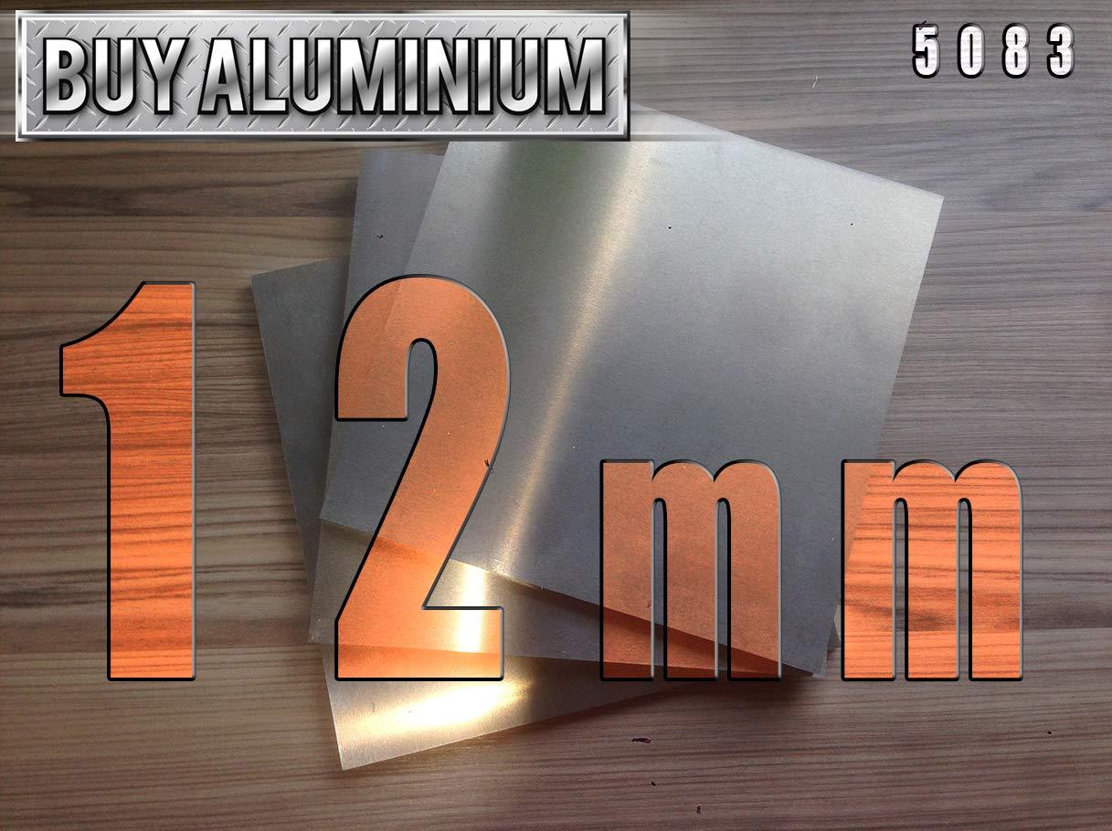 12mm Aluminium Plate - 5083 (100mm x 100mm) BuyAluminium