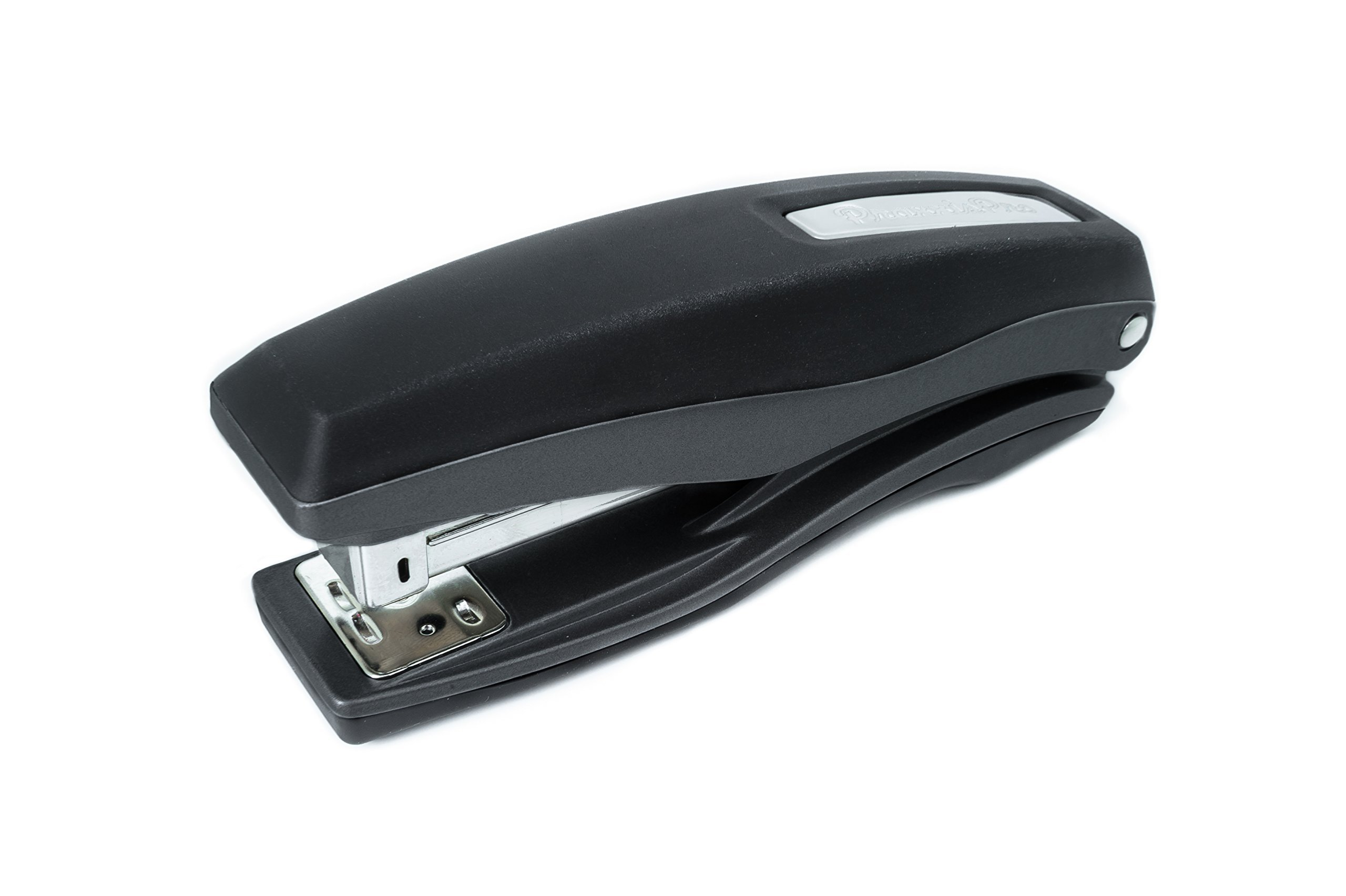 PraxxisPro Basileus Heavy Duty Metal Stapler Value Pack with 25 Sheet Capacity - Includes Staples and Staple Remover - Jam Free Stapler Set for Professional and Home Office Use (Black)