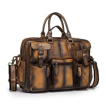Le'aokuu Leather Mens Business Travel Laptop