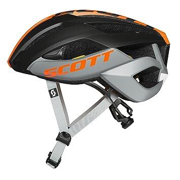 Scott ARX Plus bicicleta de carreras casco gris/negro/naranja 2017, L (