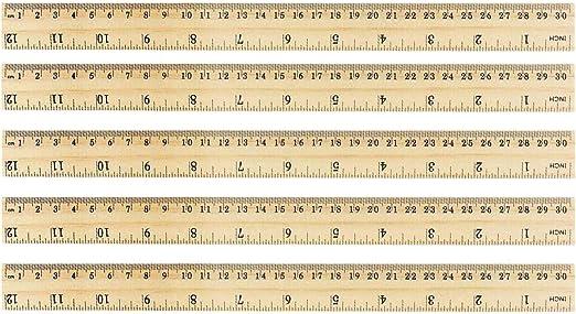 KANGIRU pour Les Tailleurs /à la Maison couturiers r/ègle en Bambou en Bois Bricolage Yardstick Couture r/ègle en Bambou Outil de Couture 12 pcs 30 cm