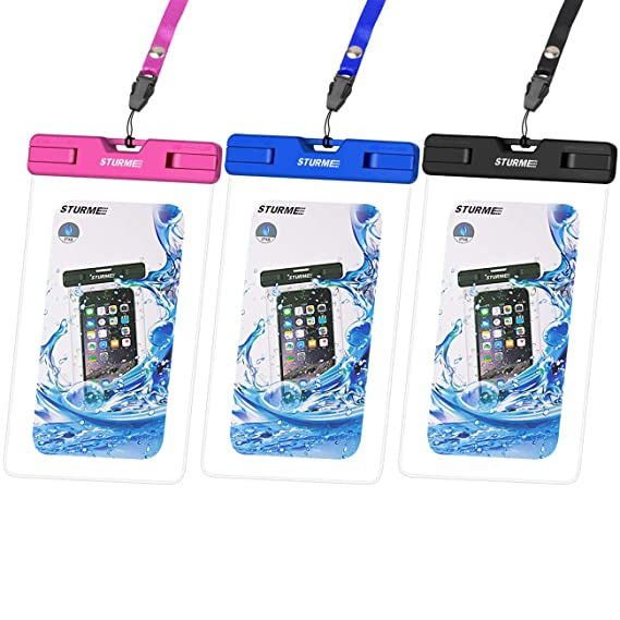 sports shoes 1d49e bcc6a STURME Waterproof Case Universal Waterproof Phone Bag Pouch Drg Bag for  iPhone X 6 6S 7 8 Plus 5 5S 5C Galaxy S8 S7 S6 S5 S4 Note 5 4 3 Google  Pixel ...