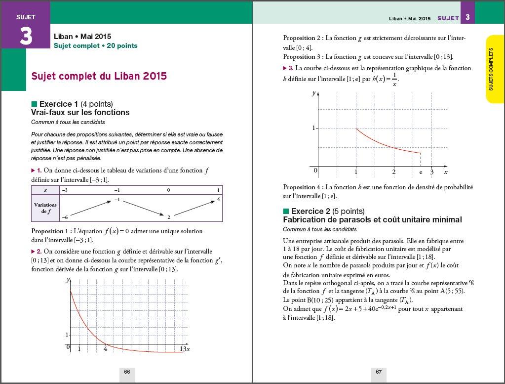 Annales Annabac 2016 Maths Tle ES, L: sujets et corrigés du bac - Terminale ES (spécifique & spécialité), L (spécialité): Martine Salmon: 9782218991240: ...