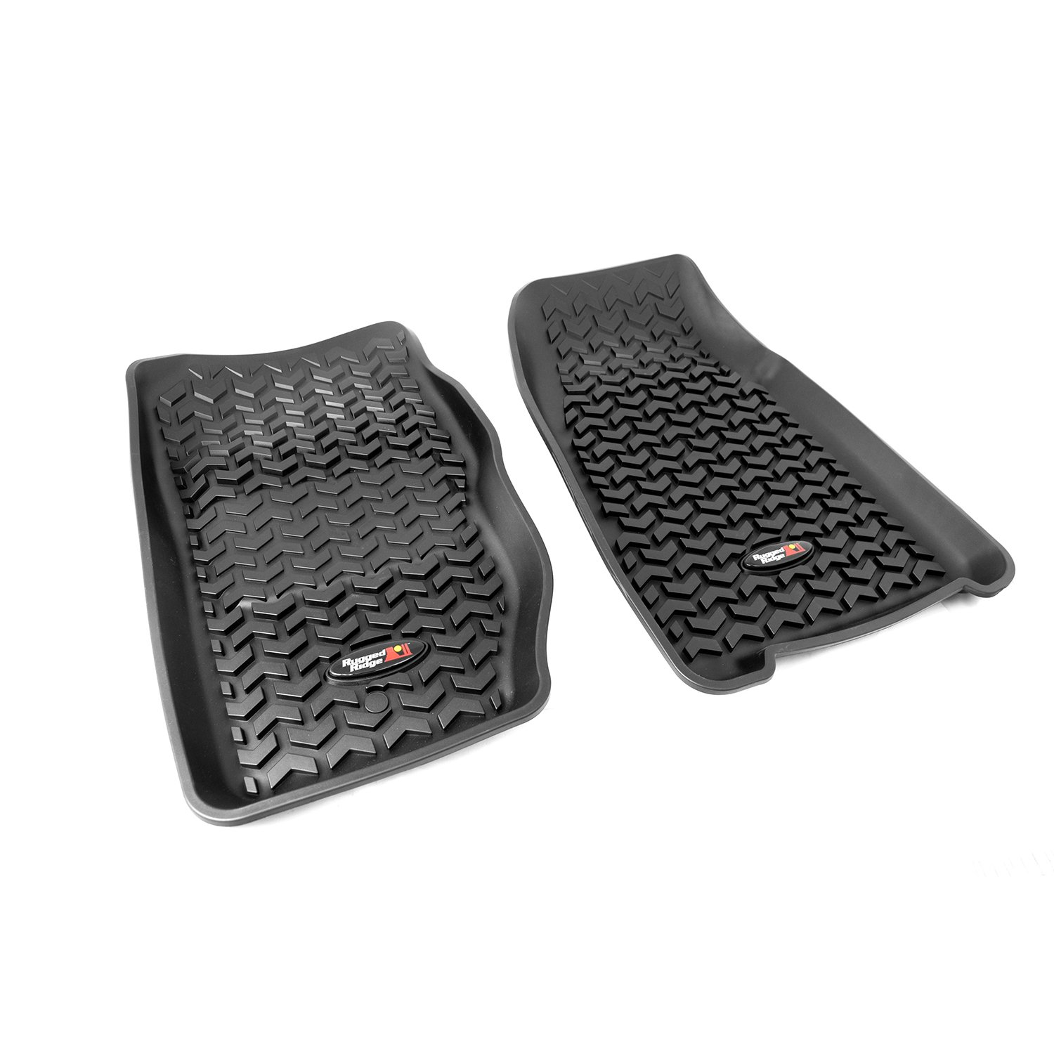 amazoncom rugged ridge allterrain black front row floor liner for select jeep cherokee models automotive