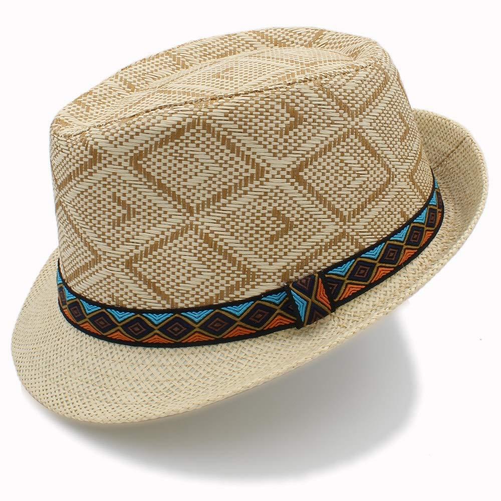 Kinue Summer Women Men Straw Sun Hat Elegant Queen Homburg Gentleman Hat Beach Cap Panama Hat Very Soft by Kinue