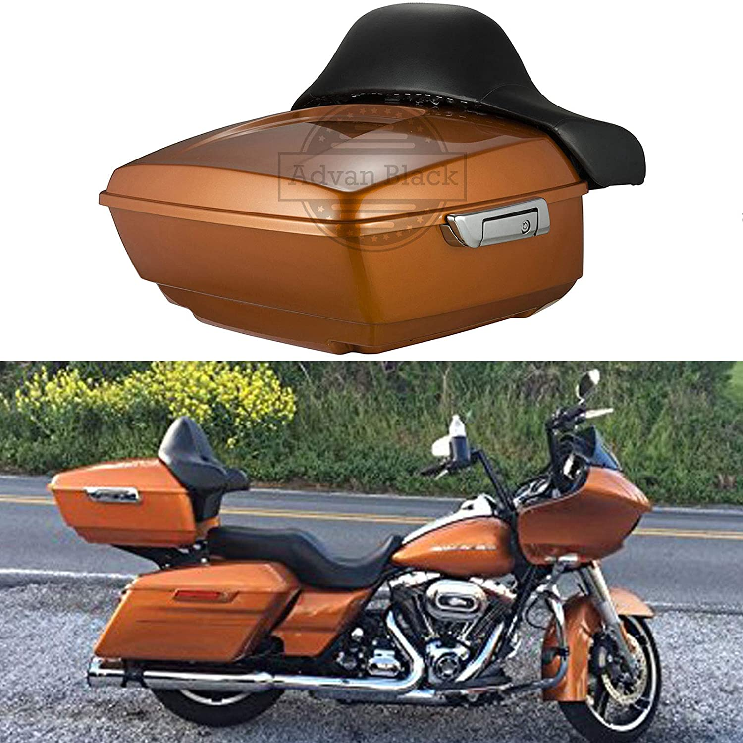 Amber Whiskey King Tour Pack Luggage Trunk Fit for Harley Davidson Touring  Road Glide Street Glide Special Electra Glide 2014 2015 2016 2017 2018 2019