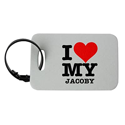 I LOVE MY JACOBY luggage tag