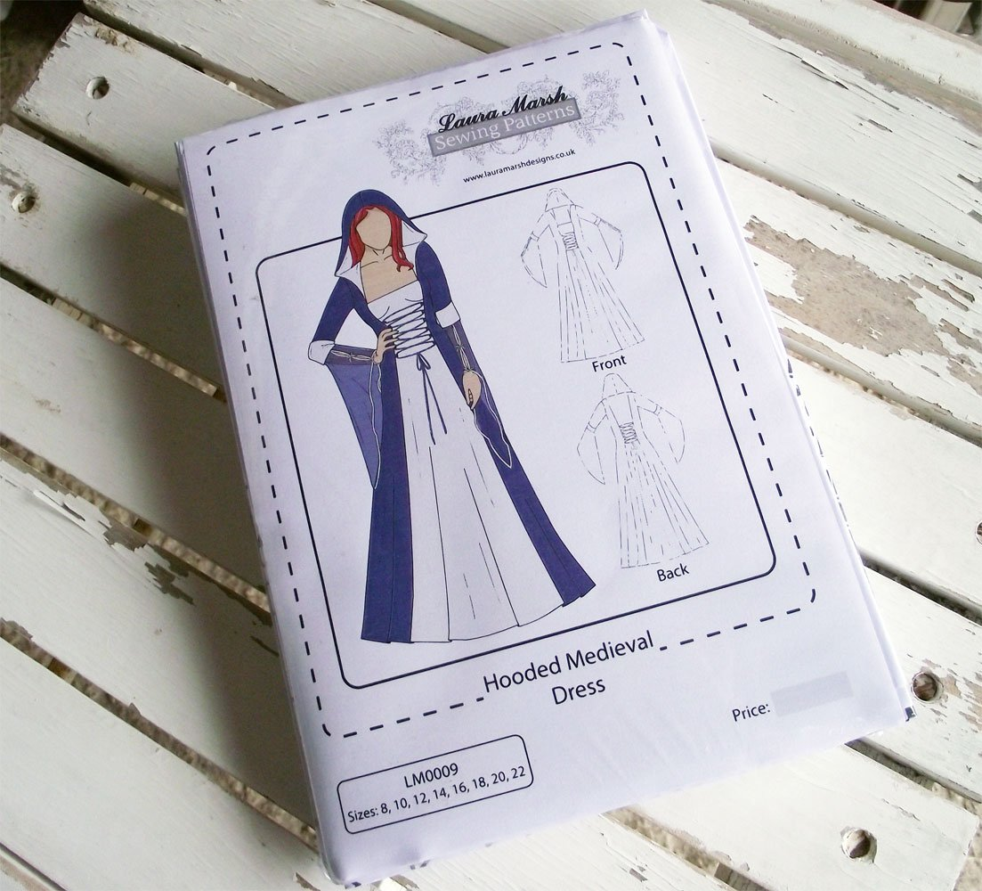 Hooded medieval dress sewing pattern sizes 8 22 lm0009 laura hooded medieval dress sewing pattern sizes 8 22 lm0009 laura marsh designs amazon kitchen home jeuxipadfo Choice Image