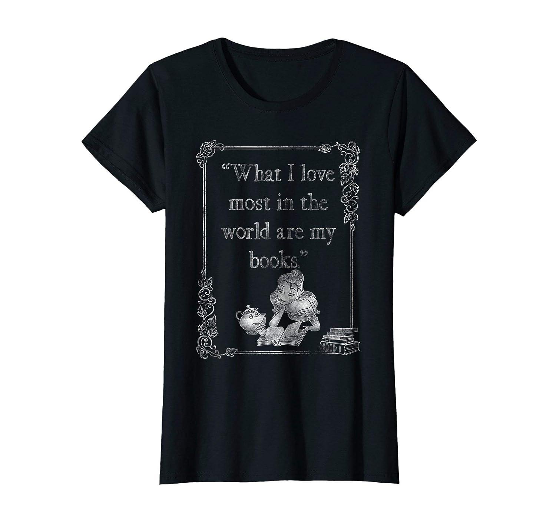67d3a2e58e8e4 Amazon.com  Disney Beauty   The Beast Belle Loves Books Graphic T-Shirt   Clothing