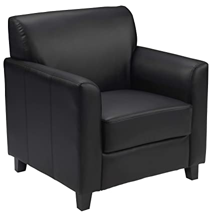 Ordinaire Amazon.com: Flash Furniture HERCULES Diplomat Series Black Leather Chair:  Kitchen U0026 Dining