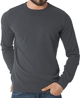 celodoro - Maglione da uomo a manica lunga - 100% cotone pettinato - altissima qualità - tanti colori di tendenza - disponibile nelle taglie S-3XL