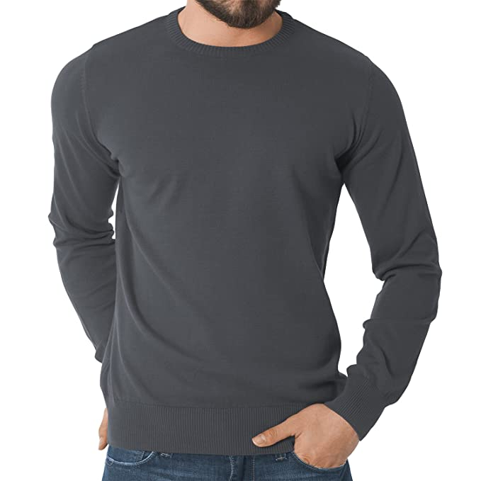 ... de manga larga para hombre - 100 % algodón peinado - Gran calidad - Disponible en varios colores y tallas de la S a la 3XL: Amazon.es: Ropa y accesorios