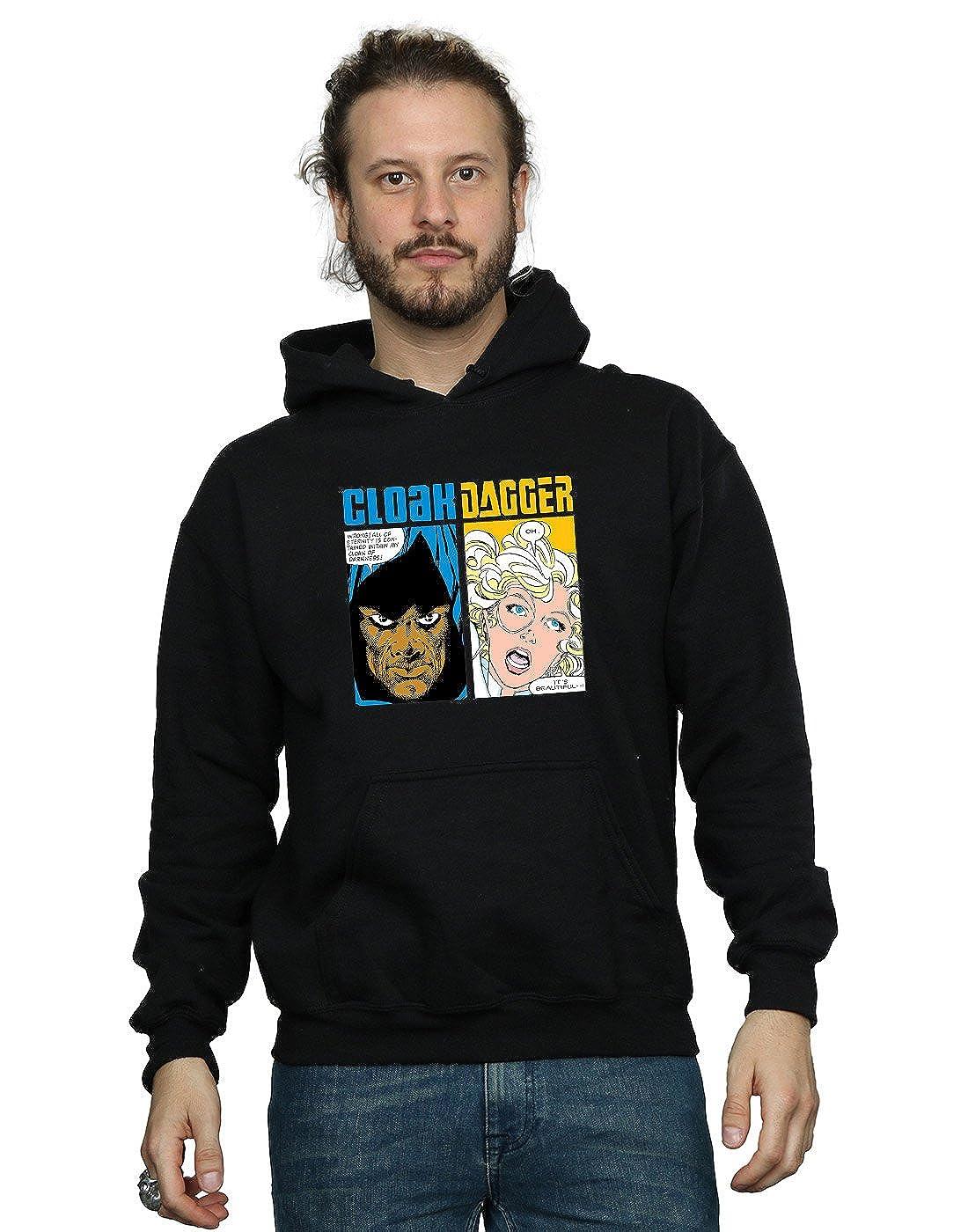 Marvel Herren Cloak and Dagger Comic Panels Kapuzenpullover