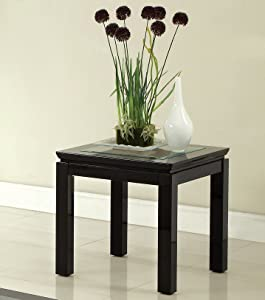 "Furniture of America HOMES: Inside + Out End Table, 54"" x 17.75"" x 26.25"", Black"