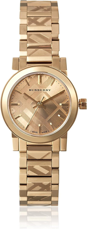 Burberry BU9227 - Reloj de pulsera de acero inoxidable (unisex, 26 mm)