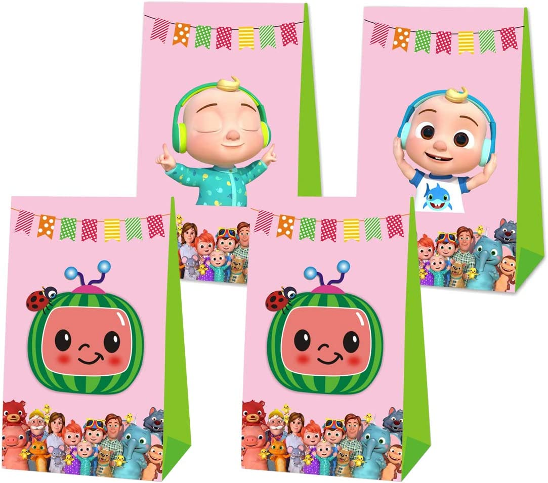 Cocomelon Party Favor Bags