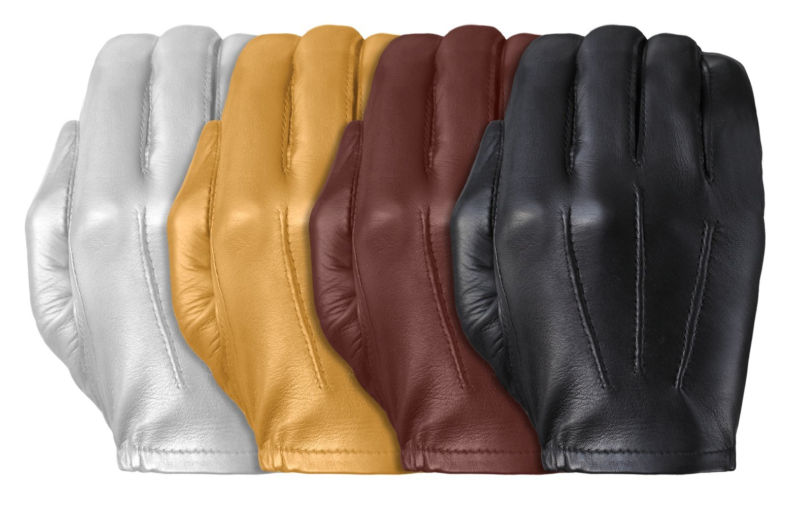 Tough Gloves Men's Ultra Thin Patrol Cabretta unlined leather gloves Size 9 Color White by Tough Gloves (Image #3)