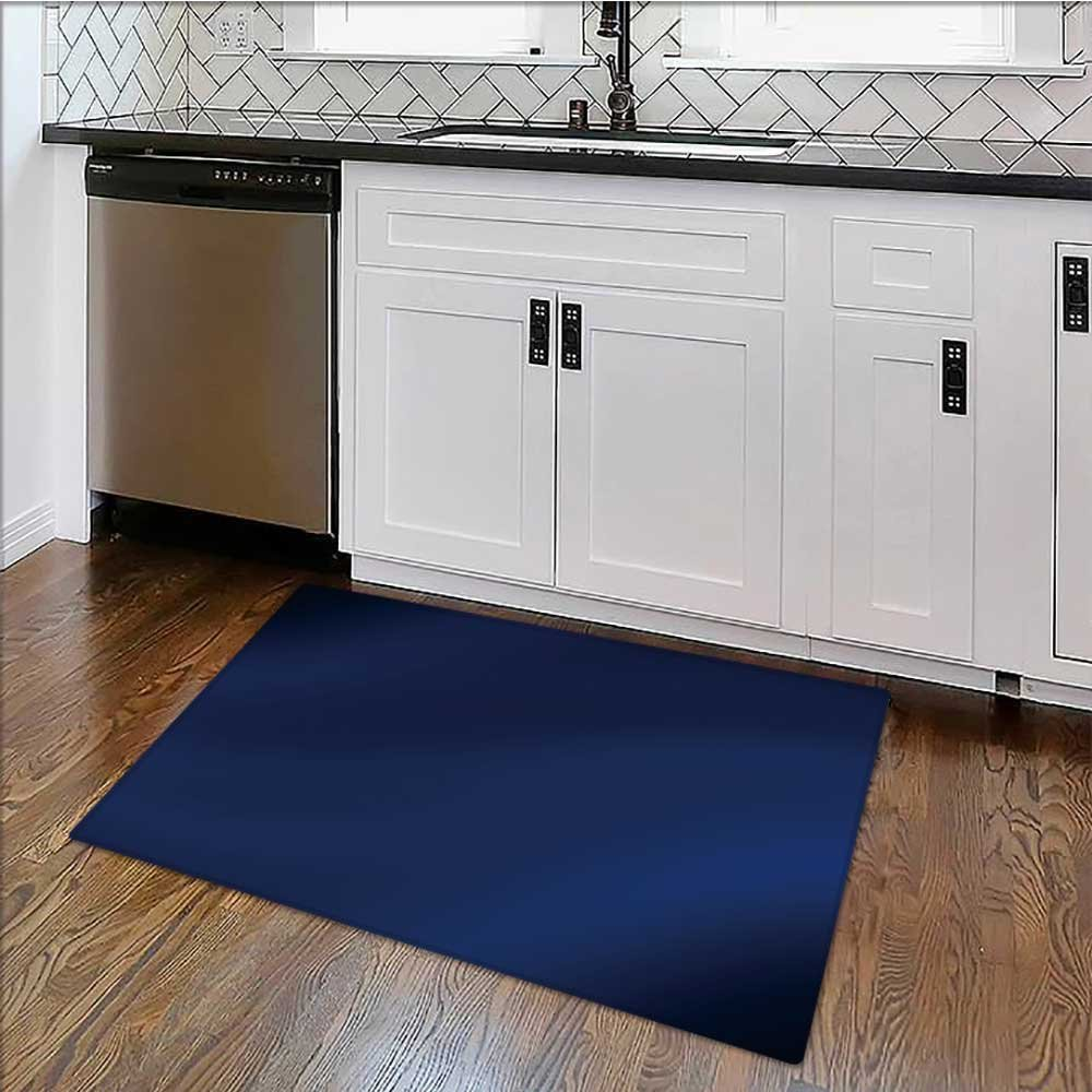 Non-slip Thicken Carpet a silky blue background Easier to Dry for Bathroom W36'' x H20''
