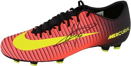87a2ac7040c Eden Hazard Chelsea Autographed Orange   Black Nike Mercurial Cleat -  Fanatics Authentic Certified - Autographed