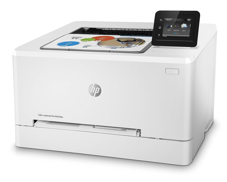 HP Laser Jet Pro M254dw - Impresora color (hasta 21 ppm, ethernet y Wi-Fi, pantalla táctil en color de 6.9 cm, 800 MHZ, inalámbrico, DDR de 128 MB, ...