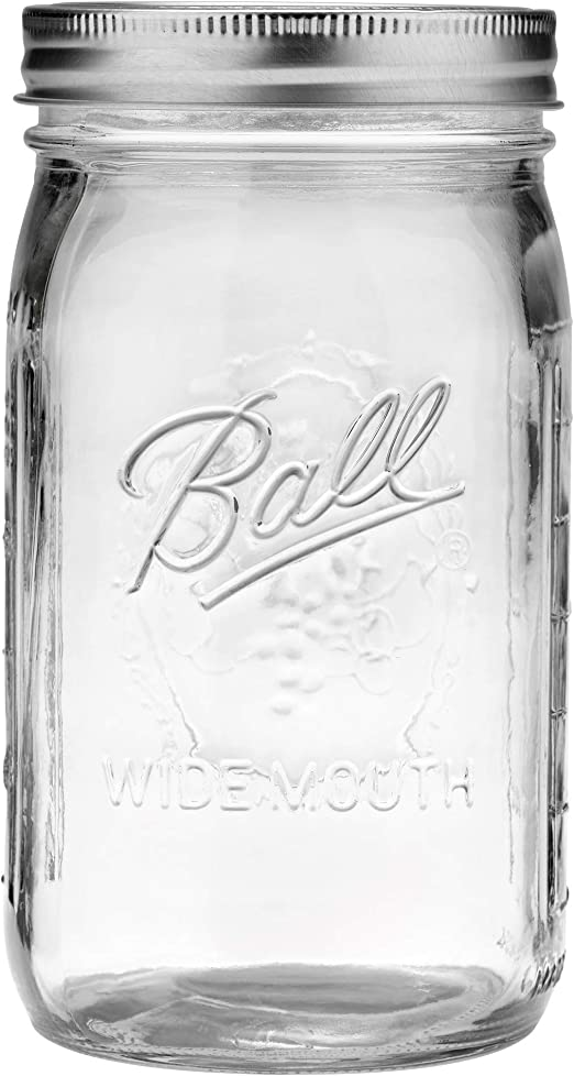 Ball Regular Mouth 32-Ounces Mason Jar with Lids and Bands 2-Units